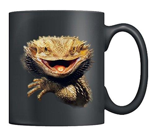 Bearded Dragon Mugs - I Love Bearded Dragon Coffee Mug Ceramic Tea Cup Black 11Oz Best Gifts For Men Women Black