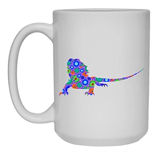 Bearded Dragon White Coffee Mug - Bearded Dragon Tea Cup Mugs Ceramic 15oz Cool Design Gift For Friend Family White Mug 15oz