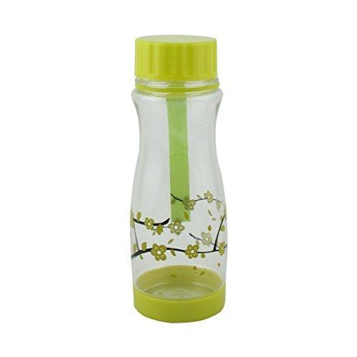 DealMux Student Plastic Plum Flower Pattern Decor Portable Tea Cup Water Bottle Sports Kettle 480ml