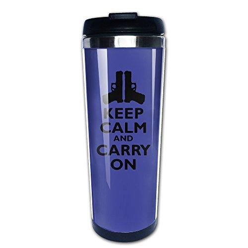 Keep Calm And Carry Gun Keywords Like Portable Tea Cup Morning Coffee For You