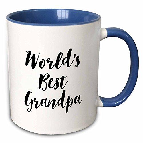 3dRose mug_219516_6 Phrase Worlds Best Grandpa Two Tone Blue Mug 11 oz BlueWhite