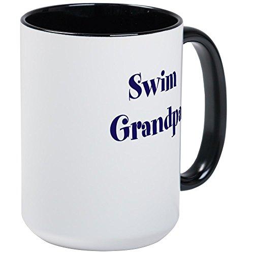 CafePress - Swim Grandpa Mug - Coffee Mug Large 15 oz White Coffee Cup