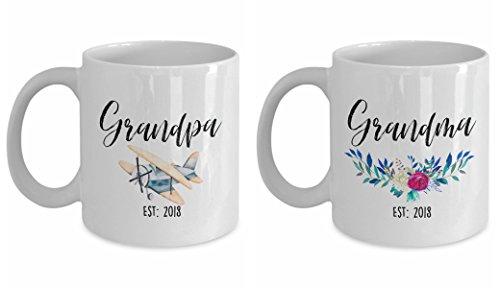 Grandma EST 2018 Grandpa EST 2018 Grandpa Mug Grandma Mug Grandpa Gift Pregnancy Reveal Gift For Grandpa Grandpa Coffee Mug Baby Announcement Grandpa Coffee Mug