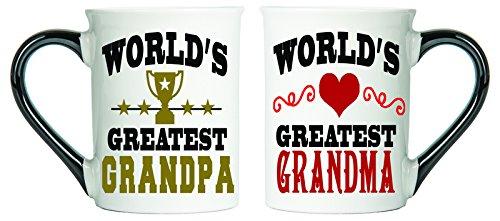 Worlds Greatest Grandpa Worlds Greatest Grandma Mugs Set Of Two Coffee Cups Spouse Mugs Ceramic Mugs Custom Gifts By Tumbleweed