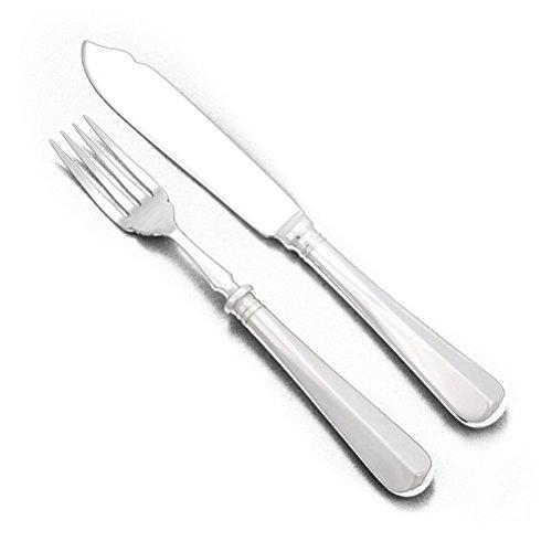 Fish Fork Fish Knife by Harrods Silverplate 28 PC Set English Set