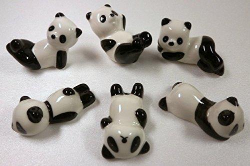 Chopstick rest Panda chopsticks holder table object six sets of cute panda