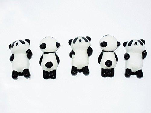 Panda chopstick rest panda is prone supine and five set cute
