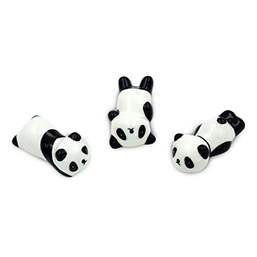 Popculta Cute Panda Chopsticks Rest Dinner Spoon Stand Knife Fork Holder Set of 3