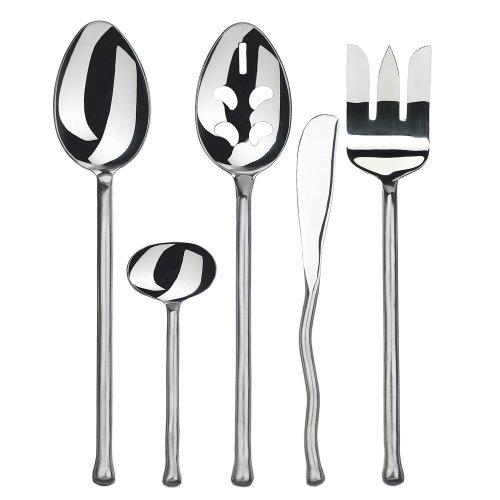Gourmet Settings Exotique Platinum 5 pc Stainless Steel Hostess Set