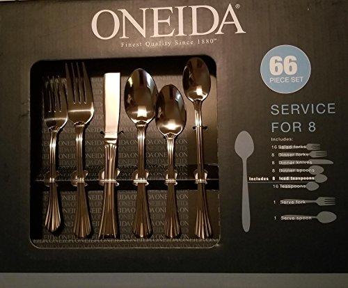 66 PIECE SET Oneida Dublin Stainless Flatware Service for 8