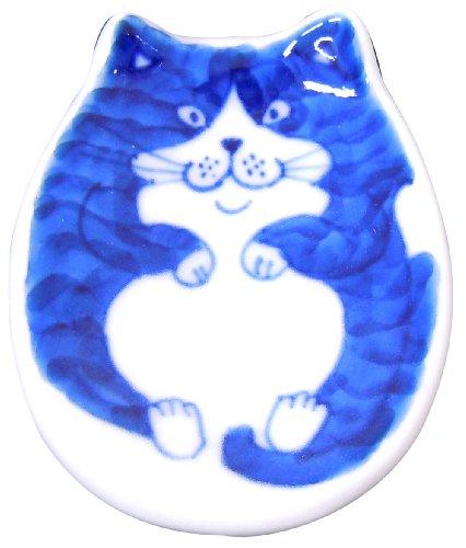 Of porcelain cat chopstick rest dummy cat Y035-3