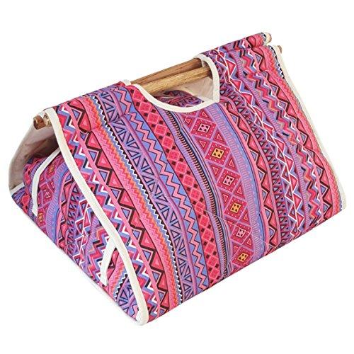 125x133 Bento Bag Casserole Carrier - Aztec Pink