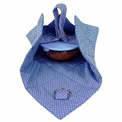 Small Casserole Carrier Dish Bag - Blue Small Flower