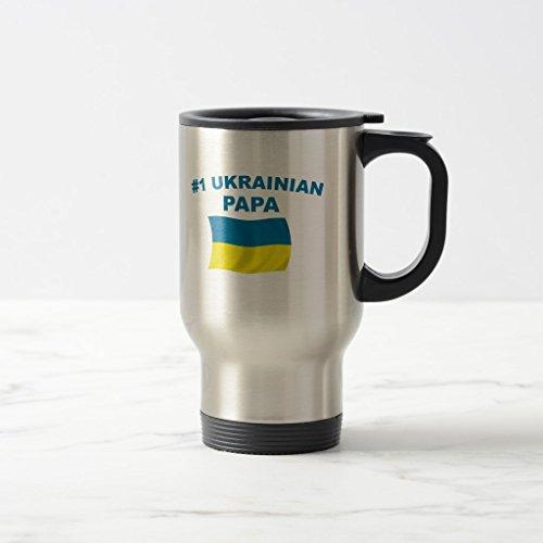 Zazzle 1 Ukrainian Papa Beer Stein Stainless Steel TravelCommuter Mug 15 oz