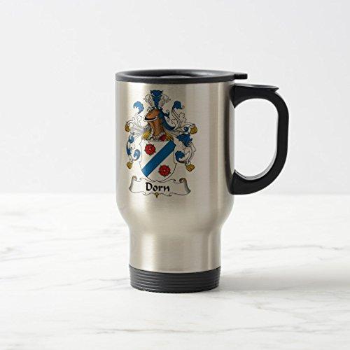 Zazzle Dorn Family Crest Beer Stein Stainless Steel TravelCommuter Mug 15 oz