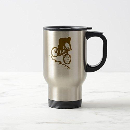 Zazzle Mountain Biking Bicycle Beer Stein Stainless Steel TravelCommuter Mug 15 oz
