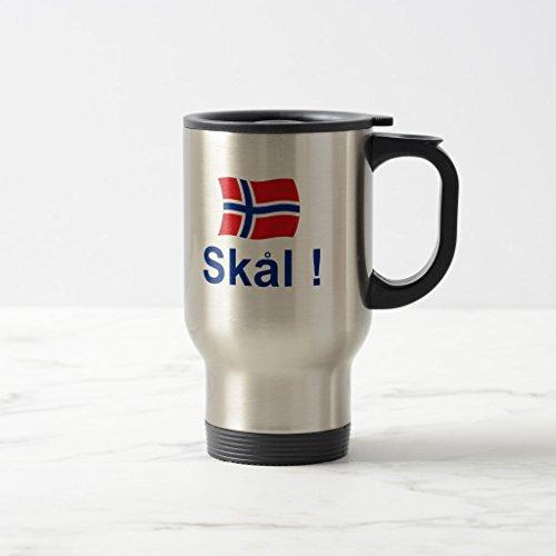 Zazzle Norwegian Skal cheers Beer Stein Stainless Steel TravelCommuter Mug 15 oz