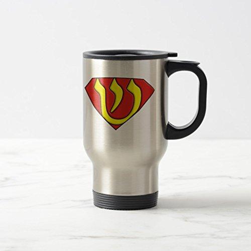 Zazzle Super Jew Beer Stein Stainless Steel TravelCommuter Mug 15 oz