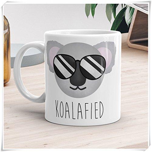 OttoRiven101 - Funny Mug - Koalafied - Qualified Koala Bear Pun Cute Animal Sunglasses Fun Animals Coffee Lover Gift Punny Mugs Gifts Tea Cups11oz Ceramic Coffee MugTea Cup High Gloss