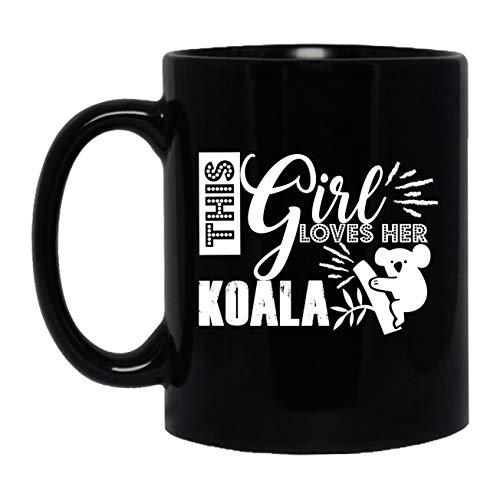 This Girl Loves koala Mug Ceramic Mug Black Cup 11 oz