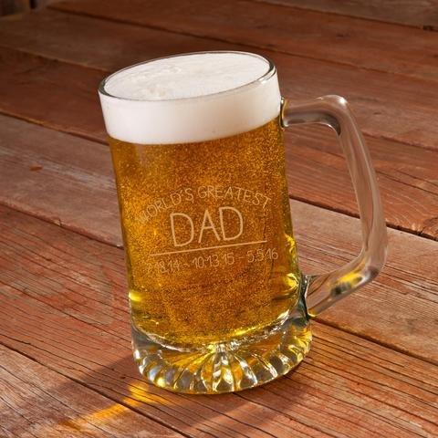 Worlds Greatest Dad Beer Mug