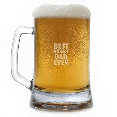 ChalkTalkSPORTS 15 oz Beer Mug Best Rugby Dad Ever