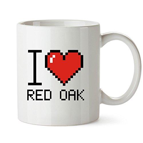 Idakoos - I love Red Oak pixelated - US Cities - Mug