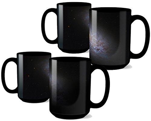 Dwarf Spiral Galaxy Coffee Mug Color Changing Heat Sensitive Mug Educational