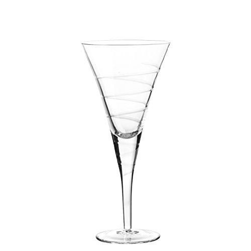 Qualia Glass Q411001 Vortex Goblet Glass Set 15 oz Gold