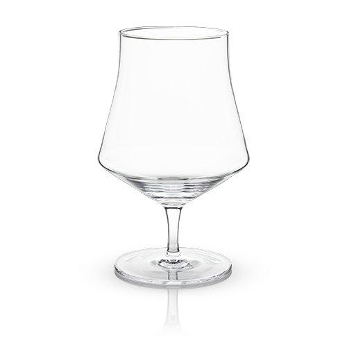 Viski 5252 Raye Crystal Beer Goblet Glasses Set of 2