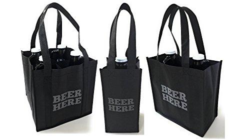 BEER HERE 64oz Growler Carrier Tote Bags  Set of 3 Growler Tote Bags