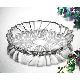 Studio Silversmiths Pavone Large Crystal Plate