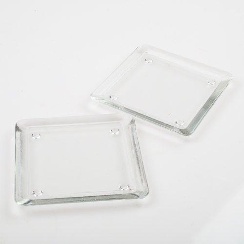 Eastland Square Pillar Plate 5 Clear Glass