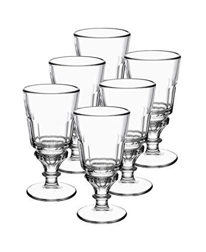 La Rochère Set of 6 Soleil Absinthe Clear Glasses