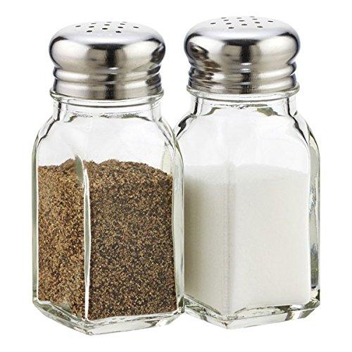 Salt and Pepper Shaker Set Clear Glass