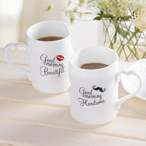Coffee mugs a pair of lover milk mug kiss teacups ceramic espresso travel mug-A 360ml