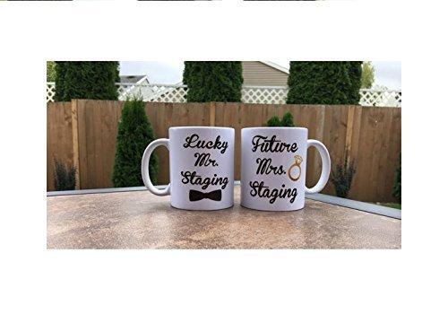 Mr Mrs Wedding Mug  Personalized Wedding Mug  Engagement Annoucment Mug  Engagement Mugs  Future Mrs Mug  Pair of Mugs  Engagement Mugs  Wedding Gift  Couple Mug