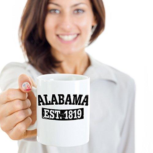 Alabama State Coffee Mug EST 1819 - AL Gifts Mugs Tea Cup 11oz 15 oz