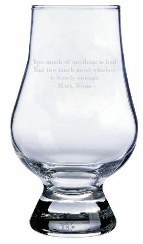 Mark Twain Quote Glencairn Whisky Glass