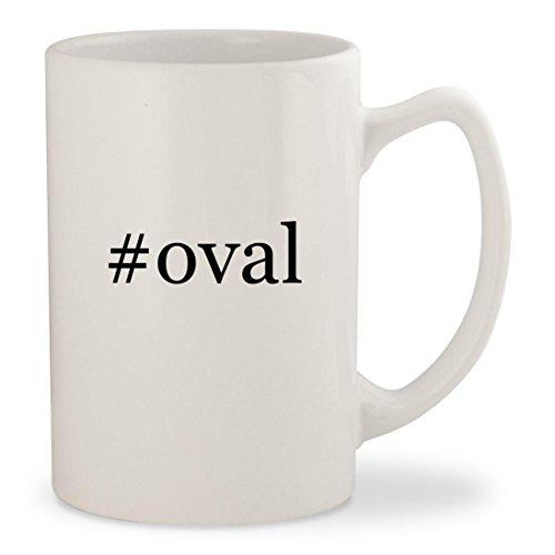 oval - White Hashtag 14oz Ceramic Statesman Coffee Mug Cup