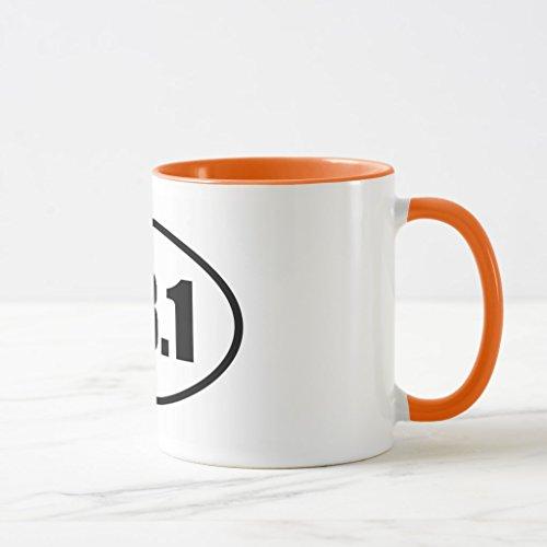 Zazzle Half Marathon 131 Runner Oval Coffee Mug Orange Combo Mug 11 oz
