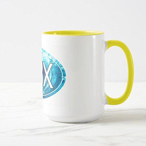Zazzle Obx Outer Banks Wave Oval Coffee Mug Yellow Combo Mug 15 oz