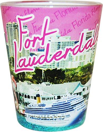 Ft Lauderdale Florida Pink Photo Shot Glass ctm