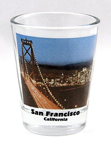 San Francisco California Golden Gate Bridge Color Photo Shot Glass