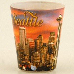 Seattle Sunset Photo Shotglass 4