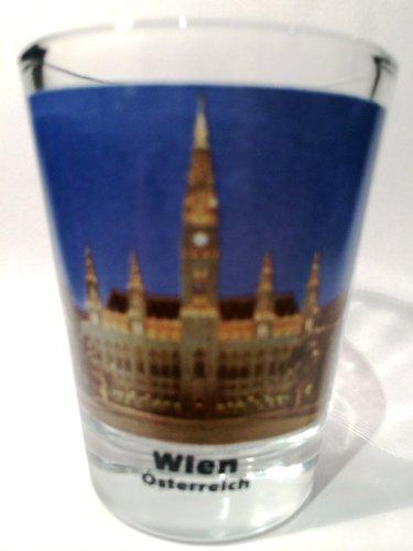 Vienna Wien Austria Rathaus City Hall Color Photo Shot Glass