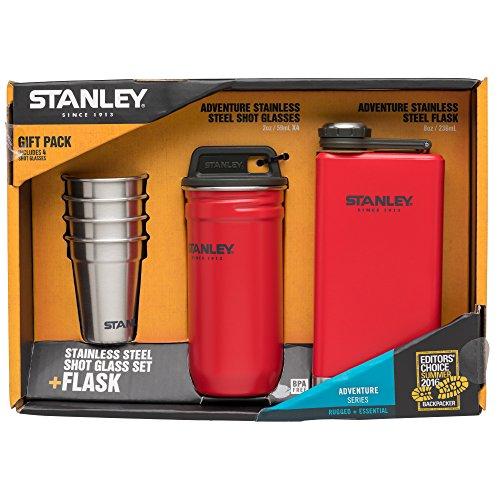 Stanley Adventure Steel Shots  Flask Gift Set Flannel Red