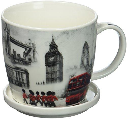 The Leonardo Collection Fine China London Commemorative Mug Coaster Delivered In a Gift Box White