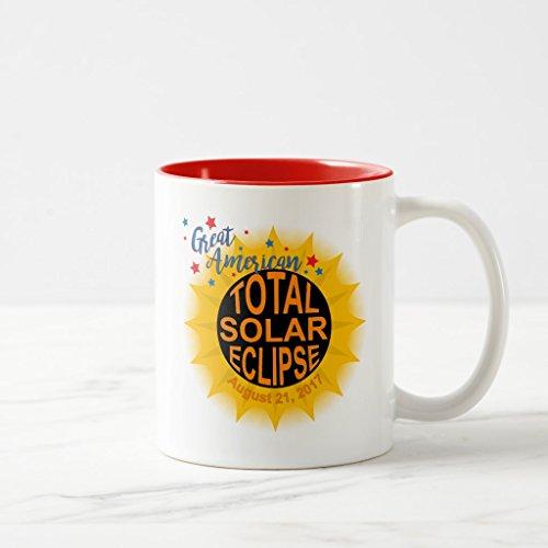 Zazzle Great American Total Solar Eclipse Commemorative Coffee Mug Red Two-Tone Mug 11 oz
