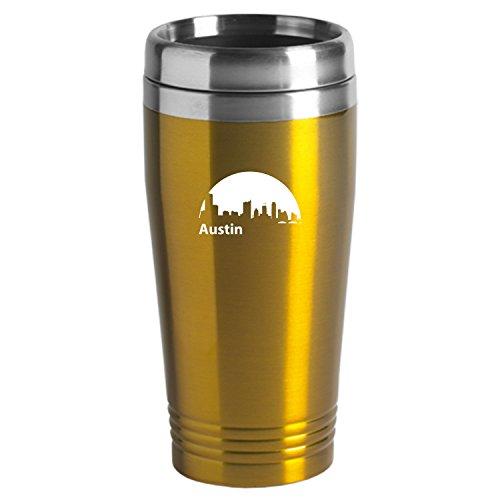 Austin Texas-Travel Mug Tumbler-Gold